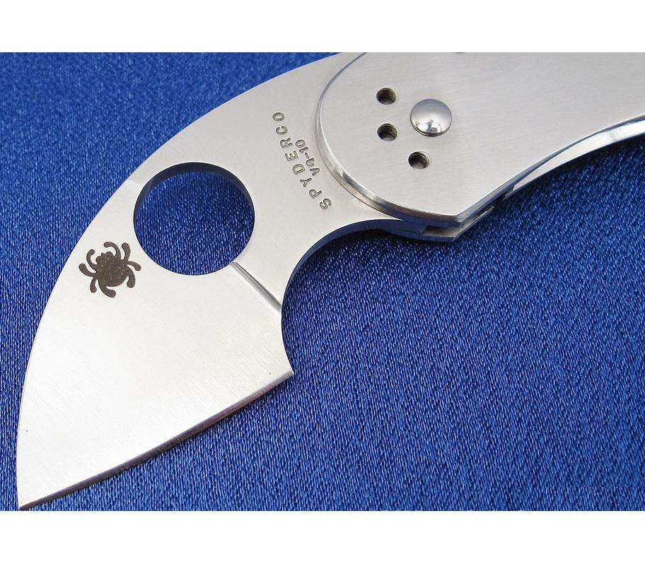 Фото 12 - Нож складной Equilibrium Spyderco 166P, сталь VG-10 Satin Plain, рукоять нержавеющая сталь