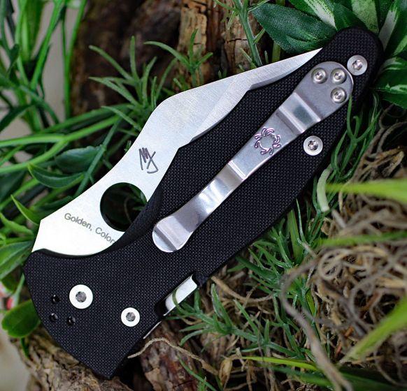 Фото 9 - Нож складной Yojimbo 2 - Spyderco 85GP2, сталь Crucible CPM® S30V™ Satin Plain, рукоять стеклотекстолит G10, чёрный