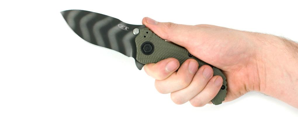 Фото 6 - Нож полуавтоматический ZT 0301, сталь CPM-S30V, рукоять G10 от Zero Tolerance