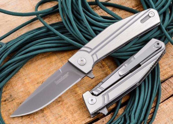 Фото 3 - Нож складной Nura 3.0 - KERSHAW 4030TIKVT, сталь 8Cr13MoV, рукоять нержавеющая сталь, серый
