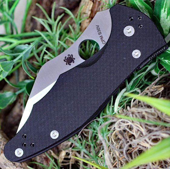 Фото 10 - Нож складной Yojimbo 2 - Spyderco 85GP2, сталь Crucible CPM® S30V™ Satin Plain, рукоять стеклотекстолит G10, чёрный