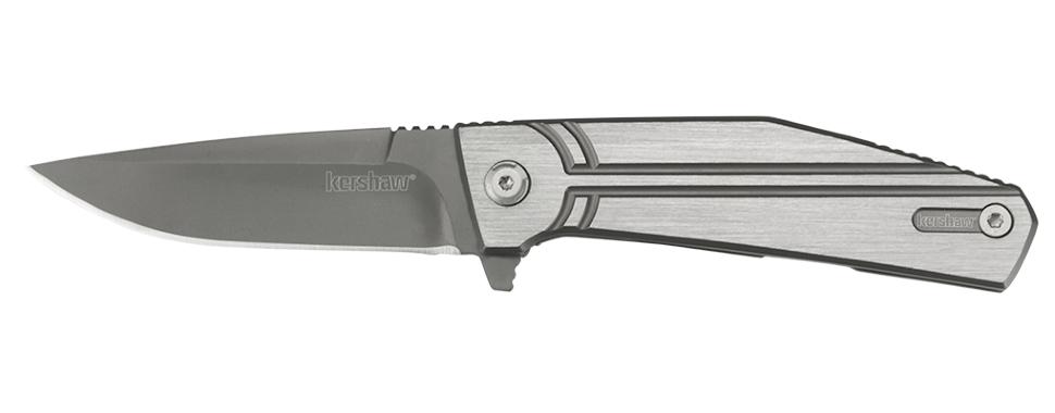 Фото 4 - Нож складной Nura 3.0 - KERSHAW 4030TIKVT, сталь 8Cr13MoV, рукоять нержавеющая сталь, серый