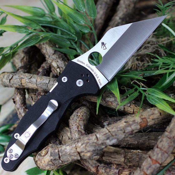 Фото 11 - Нож складной Yojimbo 2 - Spyderco 85GP2, сталь Crucible CPM® S30V™ Satin Plain, рукоять стеклотекстолит G10, чёрный