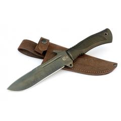 Нож для выживания из стали У8 «Тайфун» с антибликовым покрытием