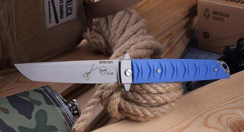 Складной нож Бадюк SW Blue, сталь D2 от Mr.Blade