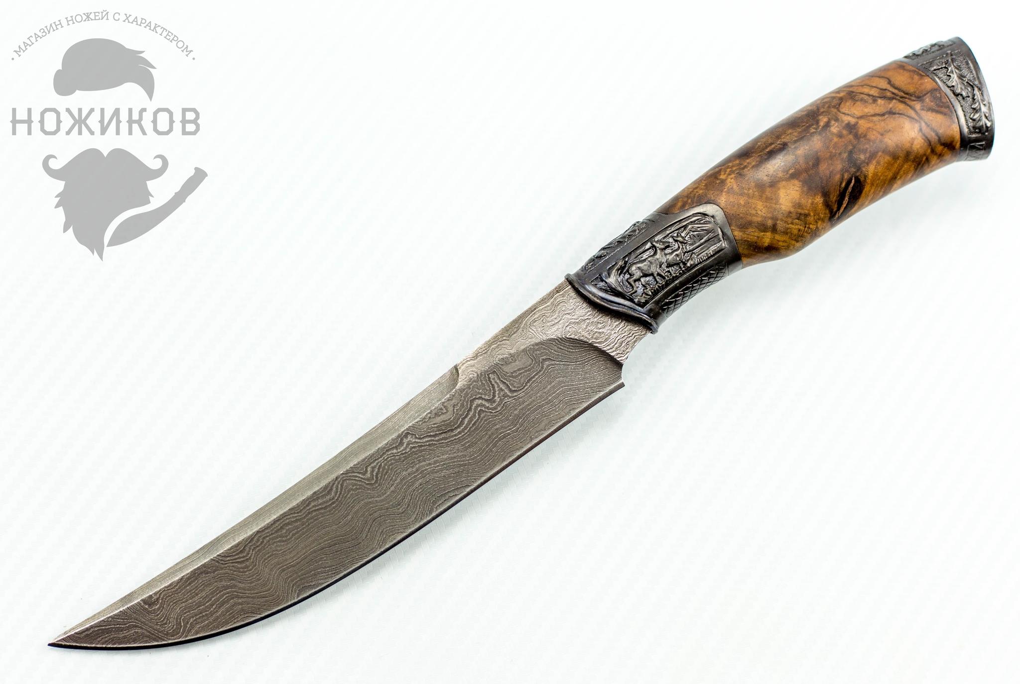 Авторский Нож из Дамаска №77, Кизляр