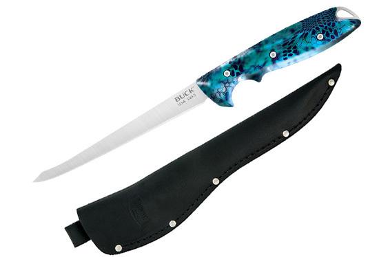 Фото 2 - Филейный нож Buck 035 Abyss Fillet Knife Kryptek Neptune Camo 0035CMS34, сталь 420HC, рукоять пластик