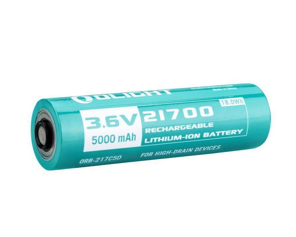 Аккумулятор Li-ion Olight ORB-217C50 21700 3,6 В 5000 mAh аккумулятор li ion olight orb 186p34 18650 3 7 в 3400 mah