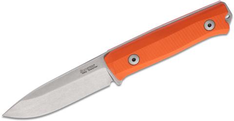 Нож LionSteel B40 GOR, сталь Sleipner, рукоять G10, оранжевый. Вид 4
