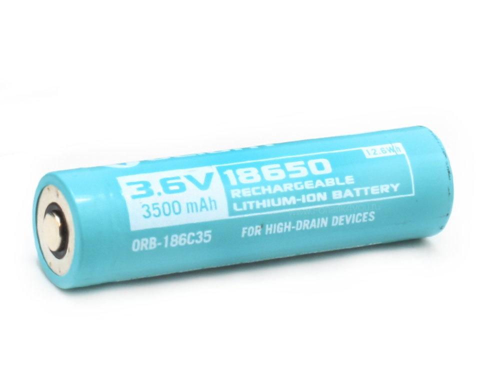 Аккумулятор Li-ion Olight ORB-186C35 18650 3,7 В. 3500 mAh аккумулятор li ion olight orb 186p34 18650 3 7 в 3400 mah