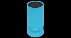 Подставка для ножей круглая HATAMOTO COLOR, голубая, пластик, 110*225мм