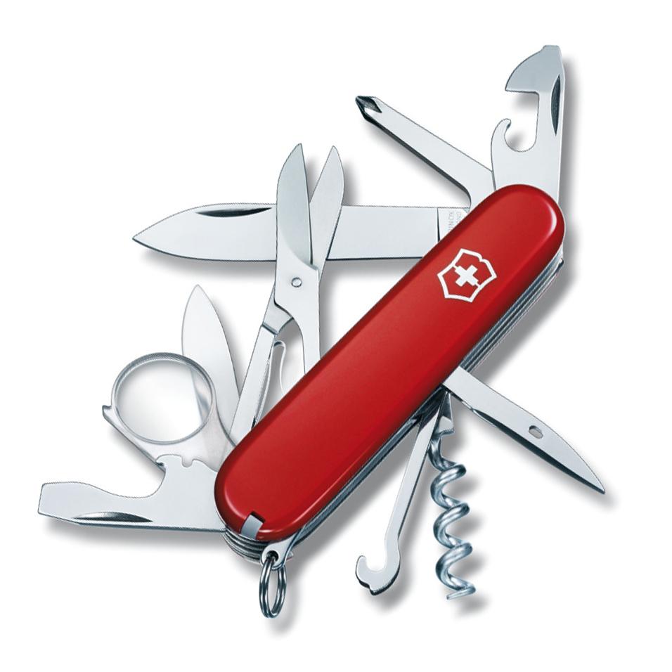 Нож перочинный Victorinox Explorer, сталь X55CrMo14, рукоять Cellidor®, красный