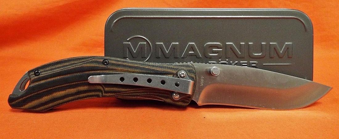 Фото 10 - Нож складной Magnum Dark Earth - Boker 01SC656, сталь 440A Satin Plain, рукоять стеклотекстолит G10