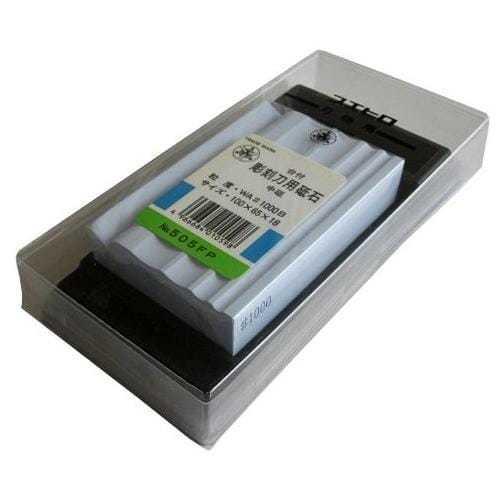 Водный точильный камень для заточки инструментов Suehiro на подставке #1000