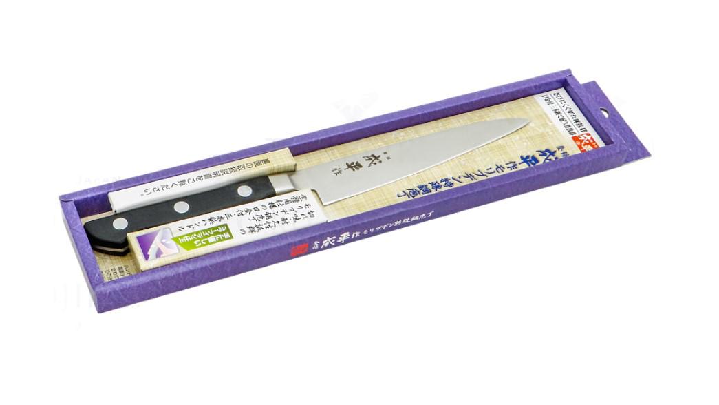 Фото 4 - Нож Универсальный Narihira Tojiro, FC-40, сталь AUS-8, чёрный, в картонной коробке