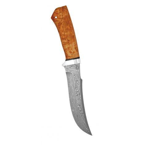 Нож разделочный Клык карельская береза, алюминий, АиР нож разделочный скинер карельская береза 100х13м аир