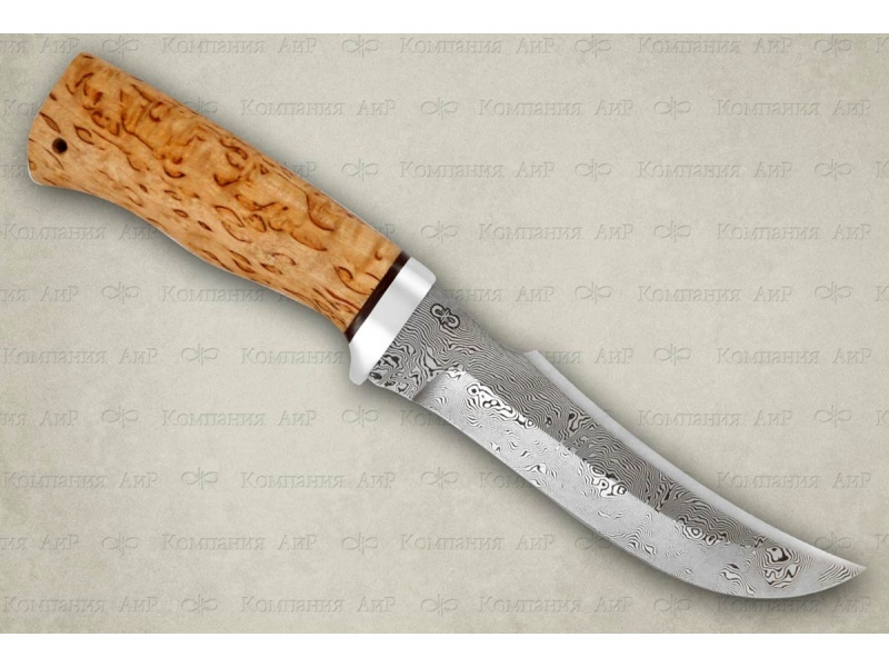 Нож разделочный Клык карельская береза, алюминий, АиР