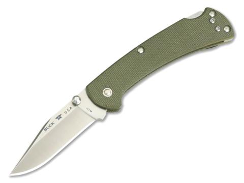 Складной нож Buck Ranger Slim Pro 0112ODS6, сталь S30V, рукоять микарта. Вид 8