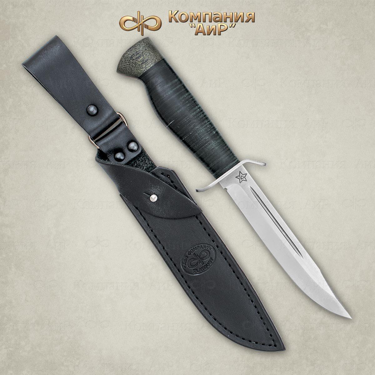 Нож разделочный АиР Штрафбат, сталь M390, рукоять кожа