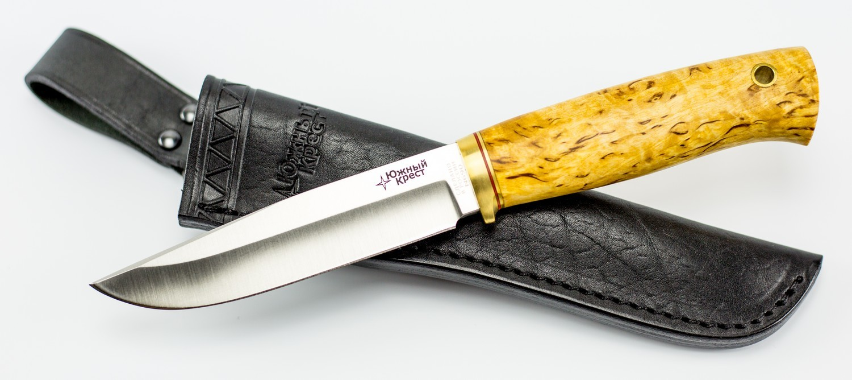 Фото - Нож универсальный Древич, сталь N690, карельская береза нож универсальный бер n690 бубинго