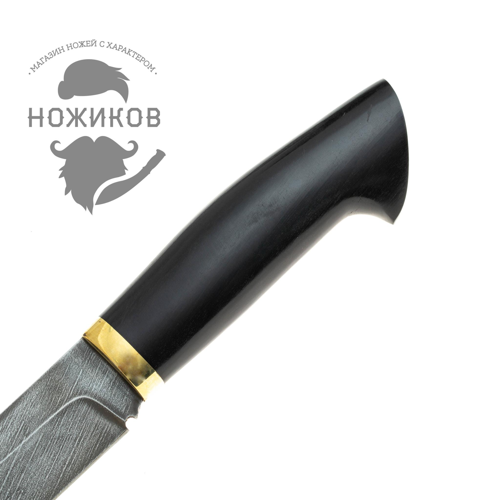 Фото 16 - Нож Лис, дамасская сталь от Промтехснаб