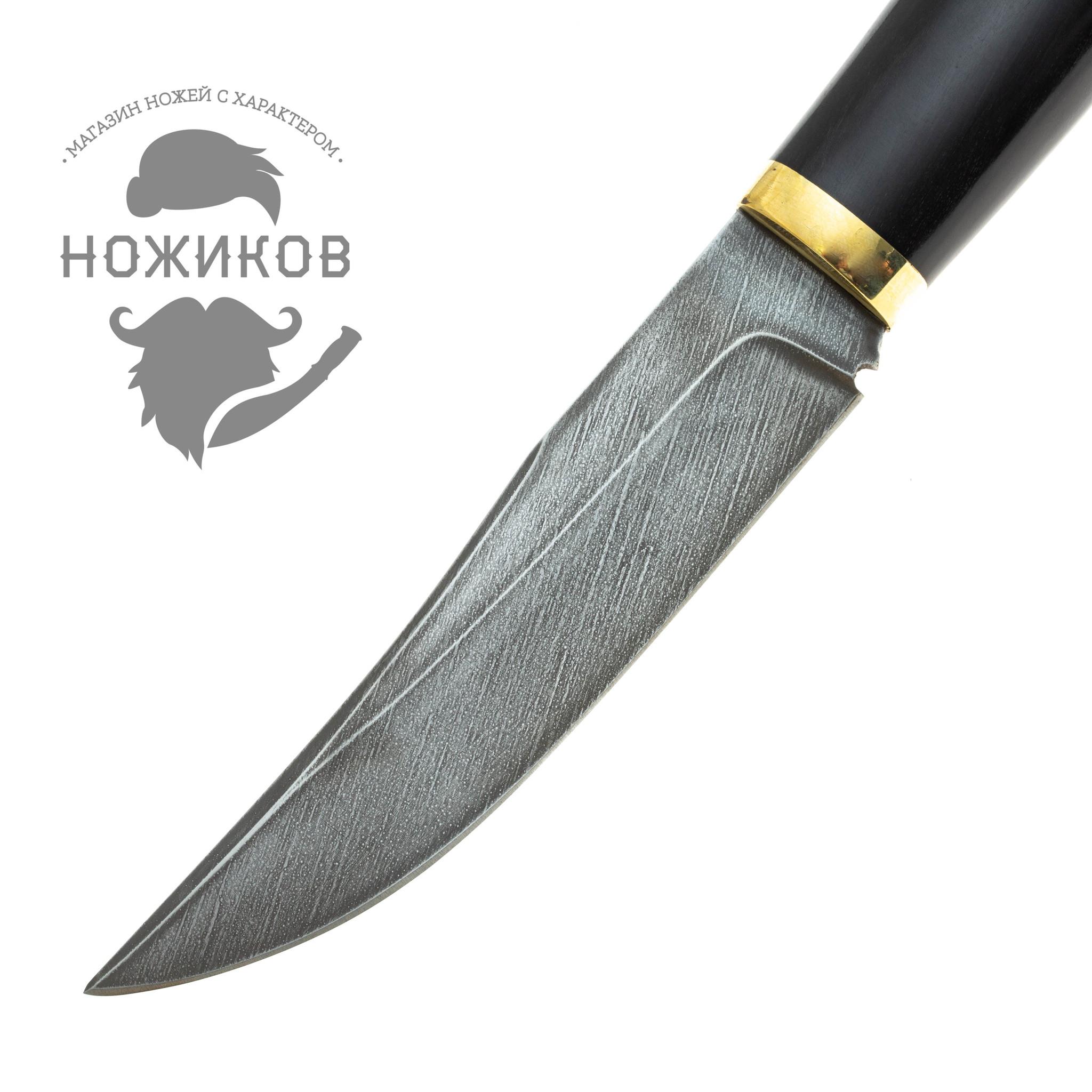 Фото 17 - Нож Лис, дамасская сталь от Промтехснаб