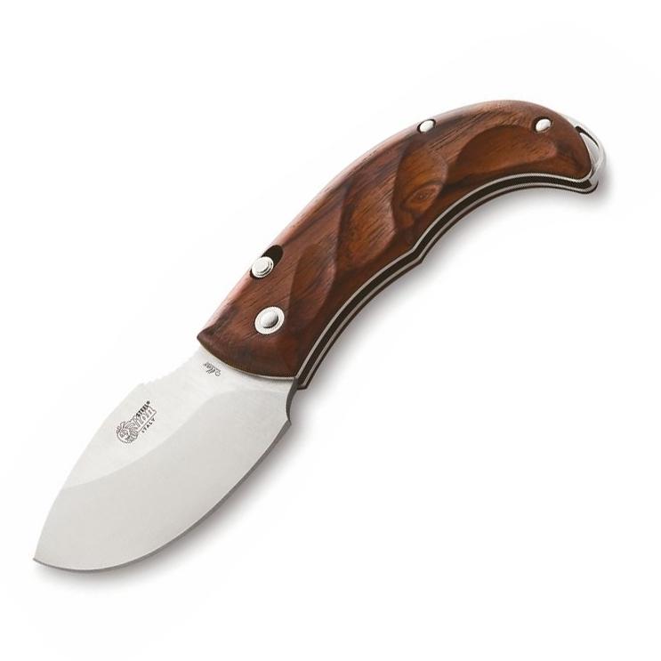 Фото 7 - Нож складной LionSteel Skinner 8901 CB, сталь 440C Satin Finish, рукоять дерево кокоболо, коричневый от Lion Steel