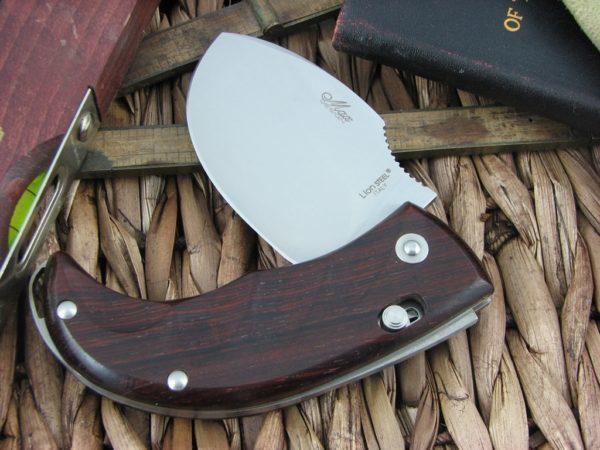Фото 13 - Нож складной LionSteel Skinner 8901 CB, сталь 440C Satin Finish, рукоять дерево кокоболо, коричневый от Lion Steel