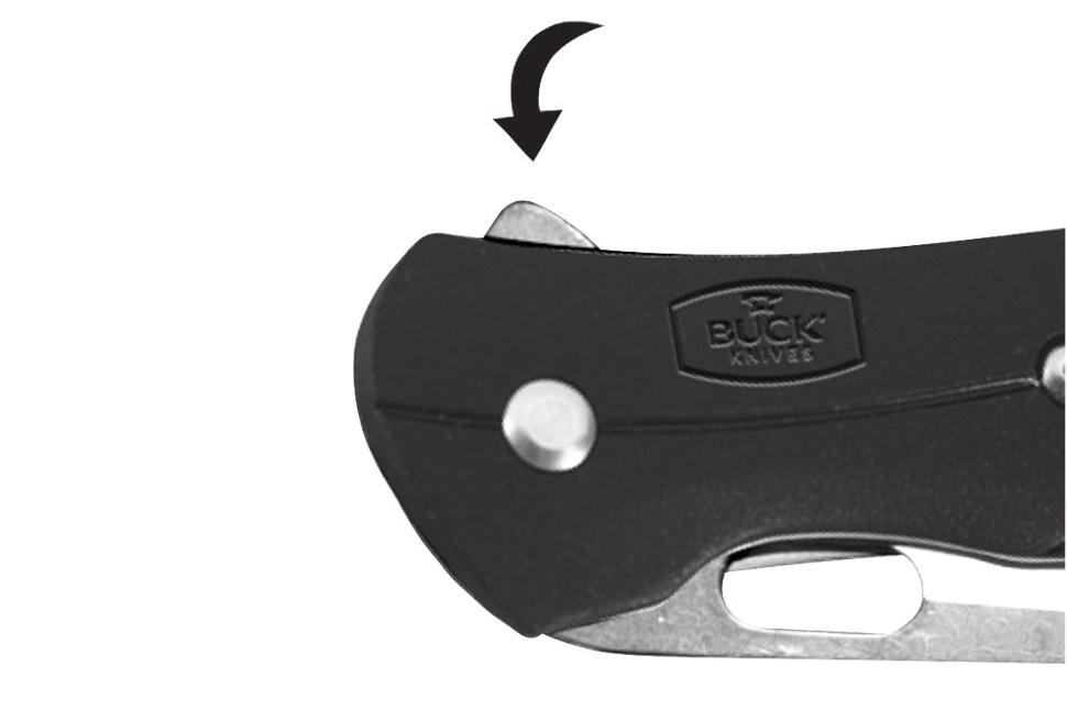 Фото 4 - Нож складной 345 Vantage™ Select - BUCK 0345BKS, сталь 420HC, рукоять GRN термопластик