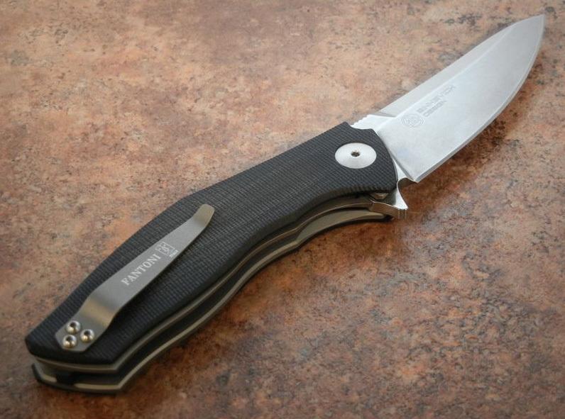 Фото 4 - Нож с фиксированным клинком Fantoni, C.U.T. Fixed, FAN/CUTFxSwBkKy, сталь CPM-S30V, рукоять cтеклотекстолит G-10, Black/Gray