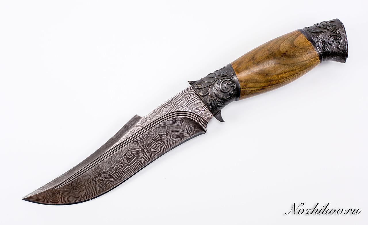 Авторский Нож из Дамаска №37, Кизляр авторский нож из дамаска 25 кизляр