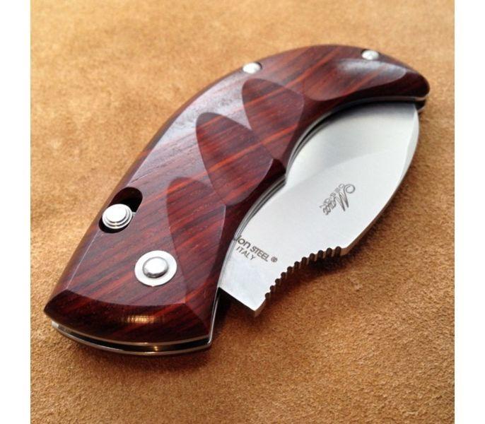 Фото 10 - Нож складной LionSteel Skinner 8901 CB, сталь 440C Satin Finish, рукоять дерево кокоболо, коричневый от Lion Steel
