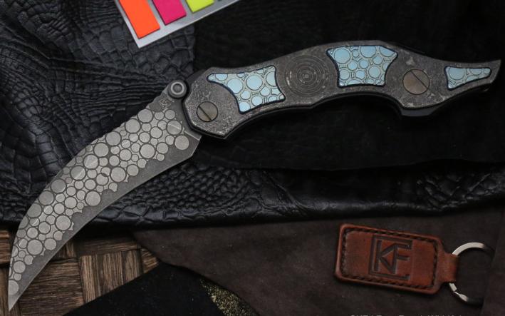 Фото - Складной нож CKF Krokar PUZ, сталь M390, рукоять Titanium от Custom Knife Factory