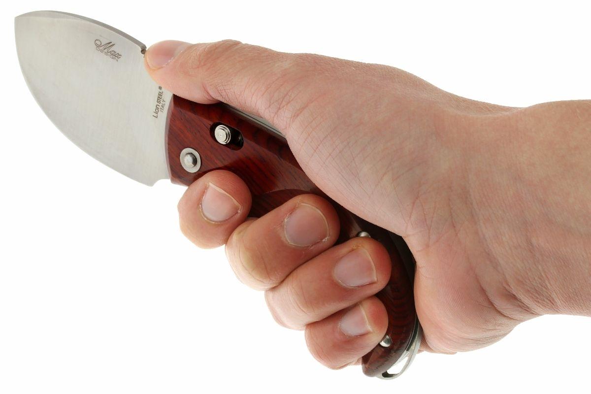 Фото 8 - Нож складной LionSteel Skinner 8901 CB, сталь 440C Satin Finish, рукоять дерево кокоболо, коричневый от Lion Steel
