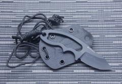 Нож с фиксированным клинком Hogue EX-F03 Neck Knife, сталь 154CM Black Ceracote, рукоять нержавеющая сталь, фото 9