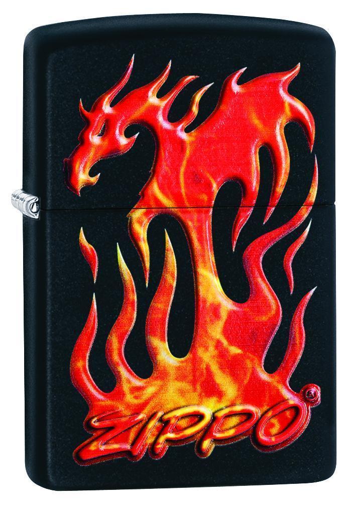 Зажигалка ZIPPO Classic с покрытием Black Matte, латунь/сталь, чёрная, матовая, 36x12x56 мм цифра 6 euro 45х30 мм цам цвет матовая латунь