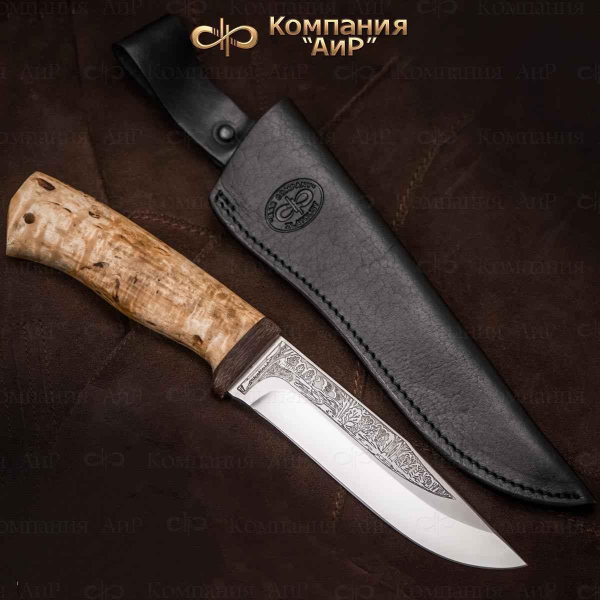 Нож АиР Турист, сталь Elmax, рукоять карельская береза