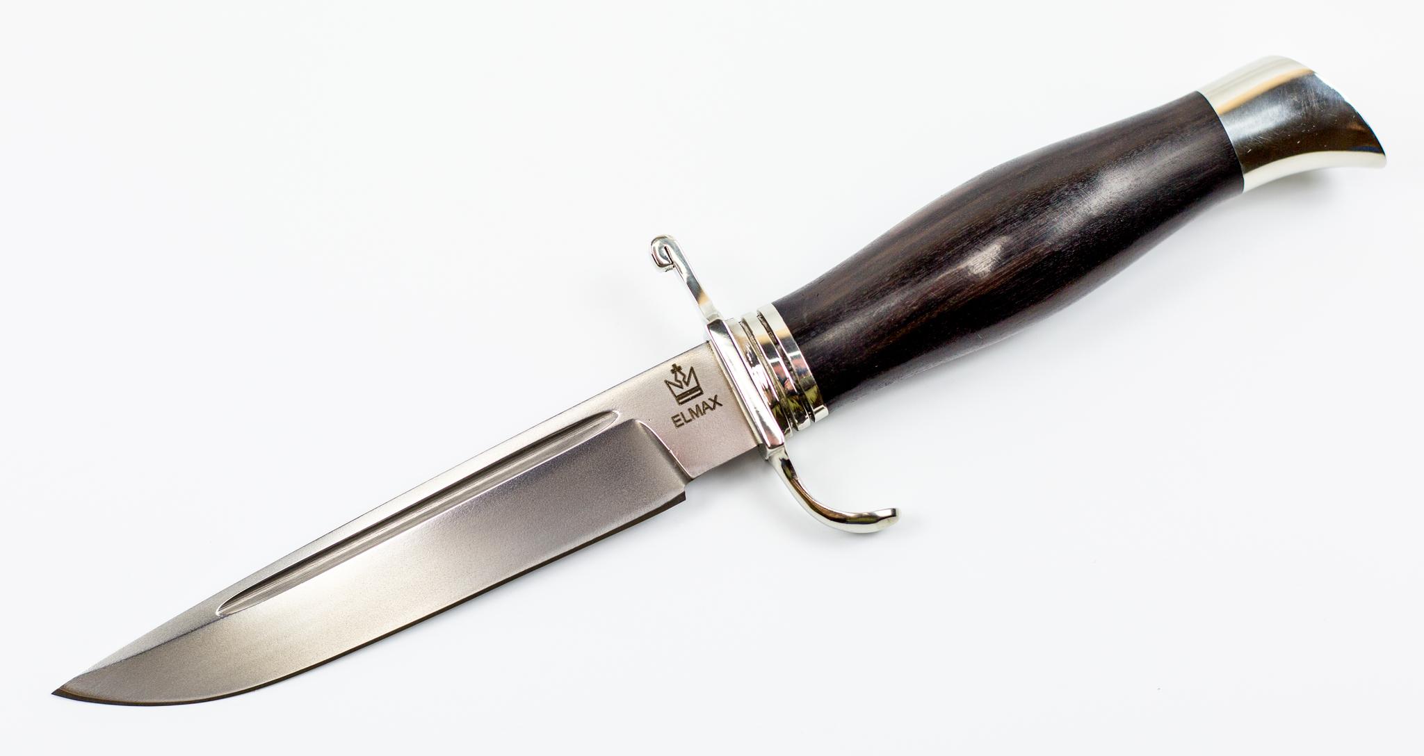 Нож Финка НКВД, сталь ELMAX, граб, мельхиор от Мастерская Князева