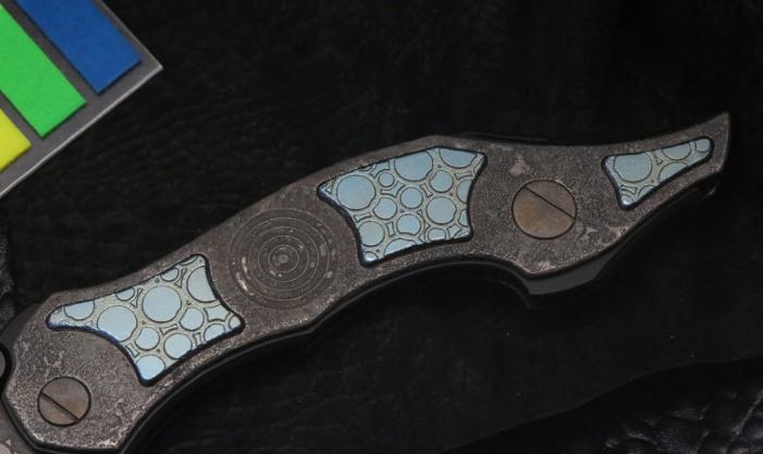 Фото 3 - Складной нож CKF Krokar PUZ, сталь M390, рукоять Titanium от Custom Knife Factory