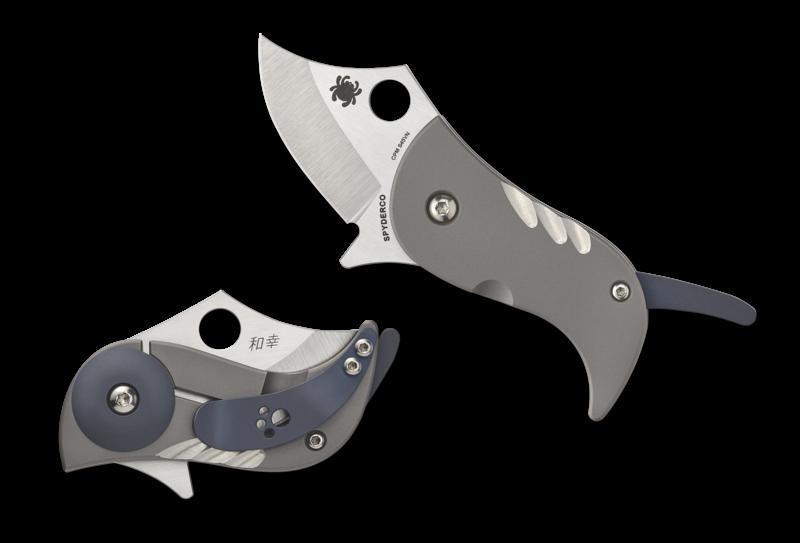 Складной нож Spyderco Pochi, сталь S45VN, рукоять Titanium