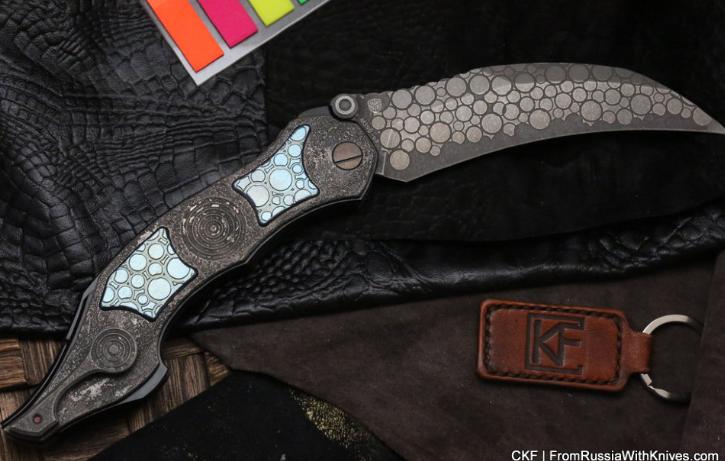Фото 4 - Складной нож CKF Krokar PUZ, сталь M390, рукоять Titanium от Custom Knife Factory