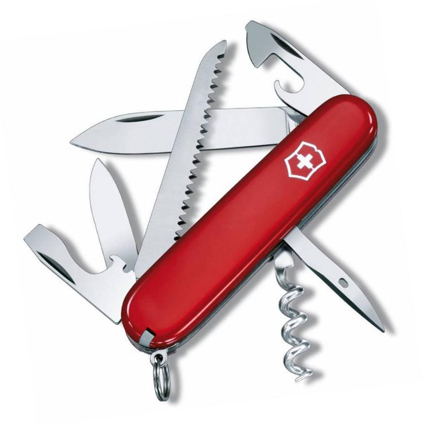 Нож швейцарский Victorinox Camper, сталь X55CrMo14, рукоять Cellidor®, красный