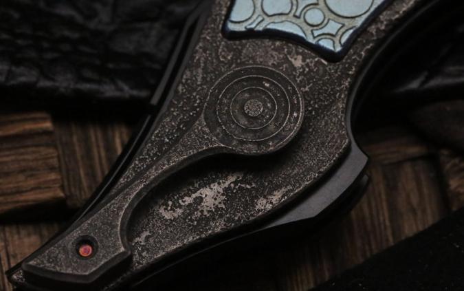 Фото 5 - Складной нож CKF Krokar PUZ, сталь M390, рукоять Titanium от Custom Knife Factory