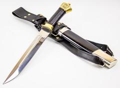 Нож Пластунский с резьбой, сталь 95x18, латунь