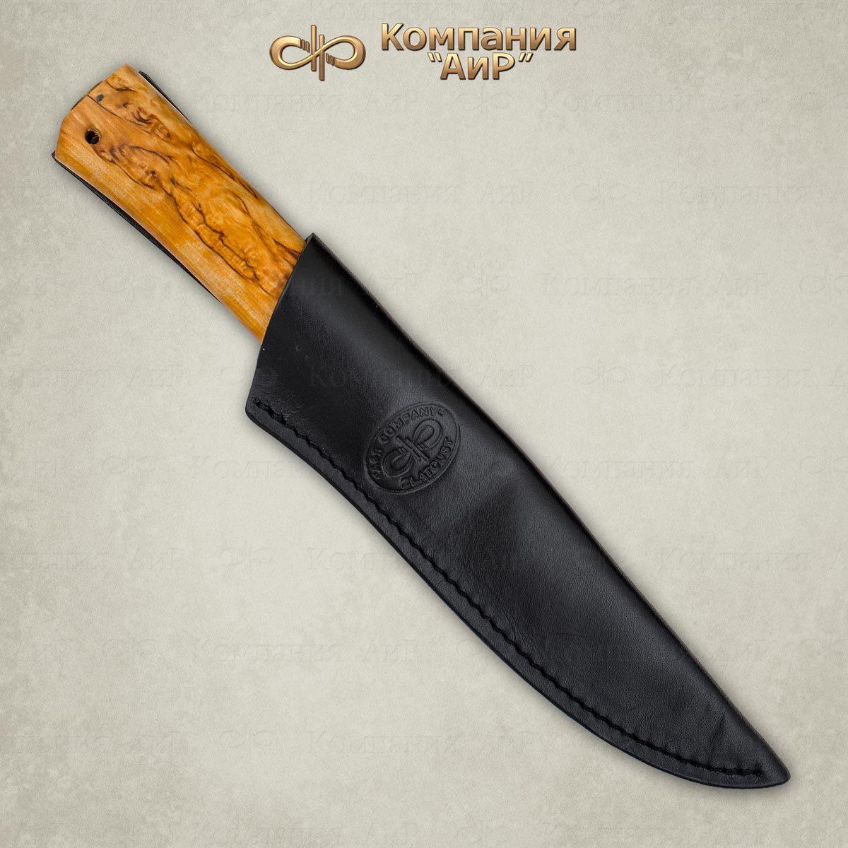 Фото 4 - Нож Пескарь, карельская береза, 95х18 от АиР