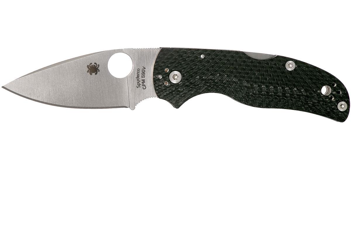 Фото 7 - Складной нож Native 5 Fluted - Spyderco 41CFFP5, сталь CPM S90V Satin Plain, рукоять карбон, чёрный