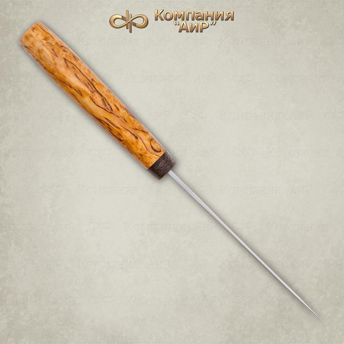 Фото 5 - Нож Пескарь, карельская береза, 95х18 от АиР