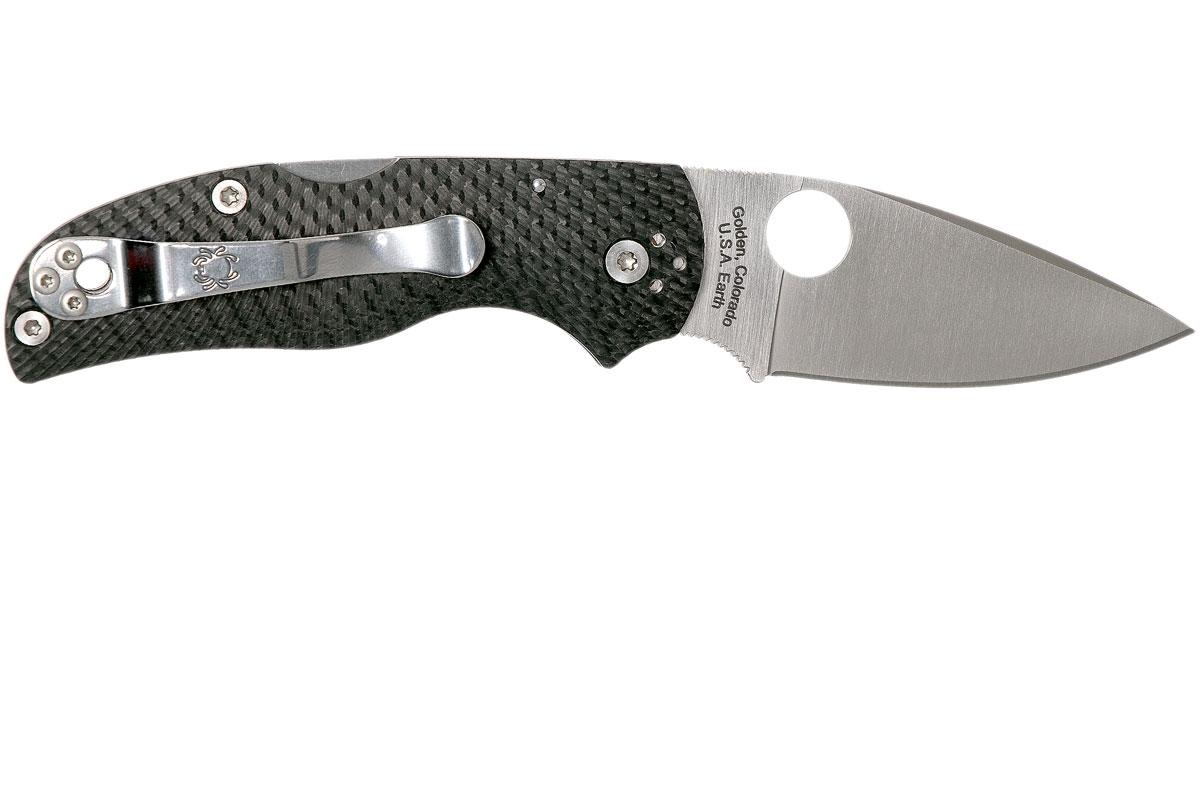 Фото 8 - Складной нож Native 5 Fluted - Spyderco 41CFFP5, сталь CPM S90V Satin Plain, рукоять карбон, чёрный