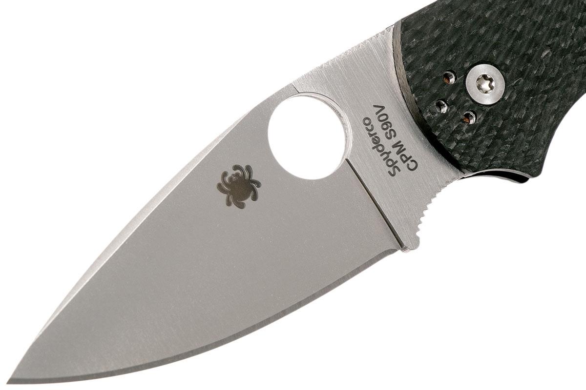 Фото 6 - Складной нож Native 5 Fluted - Spyderco 41CFFP5, сталь CPM S90V Satin Plain, рукоять карбон, чёрный