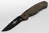 Полуавтоматический складной нож RAT™-1A Assisted Black Blade, Olive Drab G-10 Handle - купить в интернет магазине